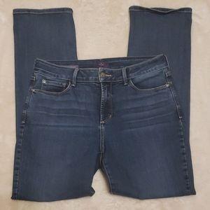 NYDJ Marilyn Straight Leg Blue Jeans sz 10P